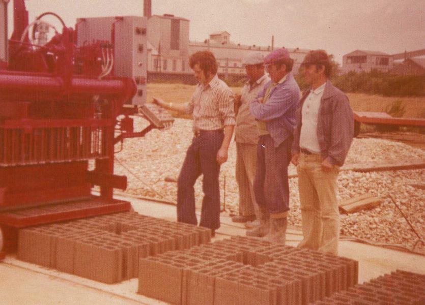 Betonwarenproduktion um 1975_Ing. Helmut KOTZIAN GmbH